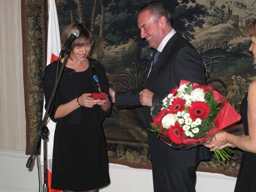 prof. M. Anna Packalén Parkman tilldelas Officerskorset av Republiken Polens Förtjänstorden